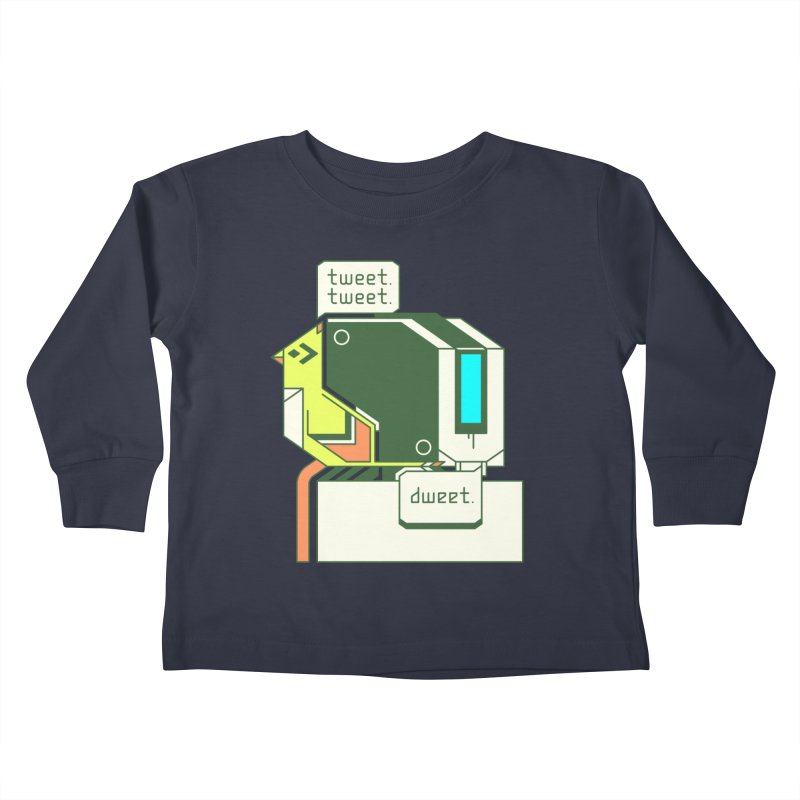Tweet Tweet Dweet Kids Toddler Longsleeve T-Shirt by Spencer Fruhling's Artist Shop