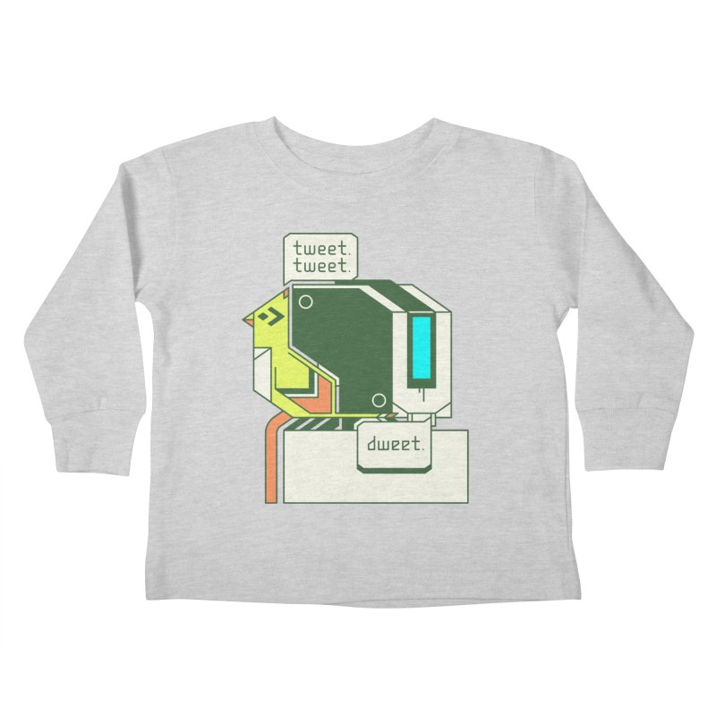 Tweet Tweet Dweet Kids Toddler Longsleeve T-Shirt by Spencer Fruhling's Artist Shop