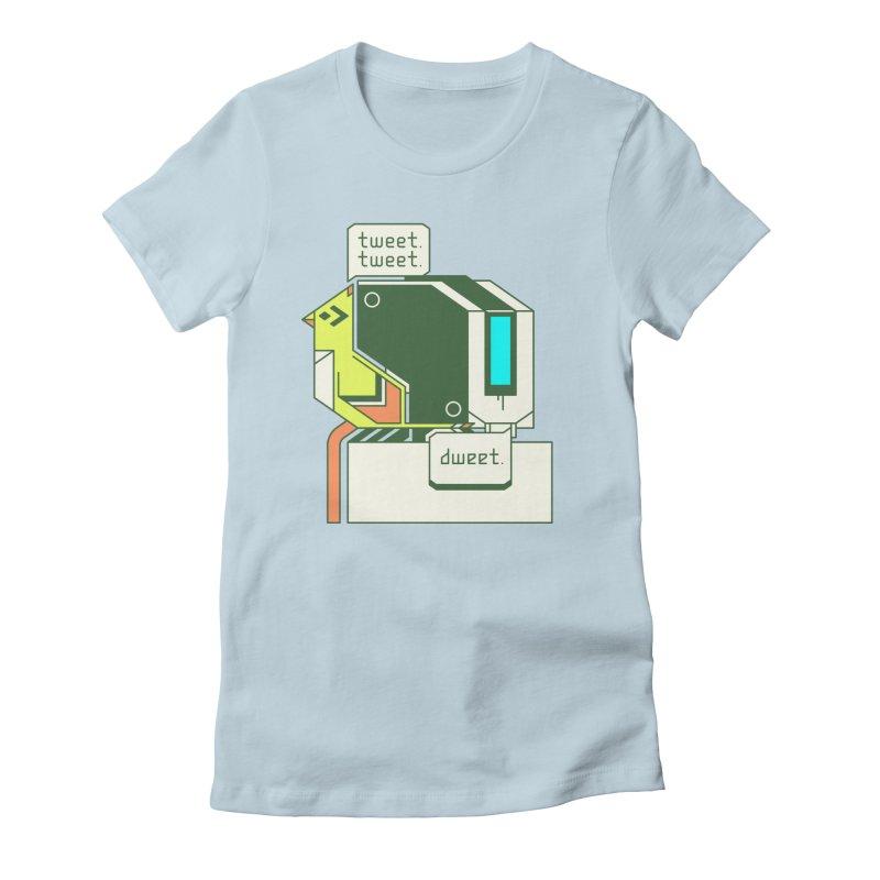 Tweet Tweet Dweet Women's Fitted T-Shirt by Spencer Fruhling's Artist Shop