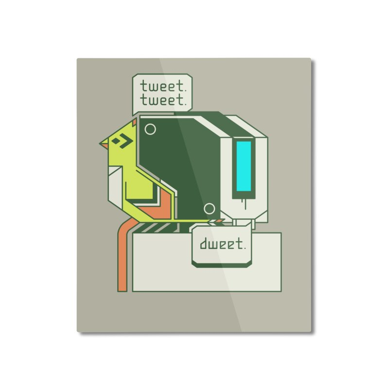 Tweet Tweet Dweet Home Mounted Aluminum Print by Spencer Fruhling's Artist Shop