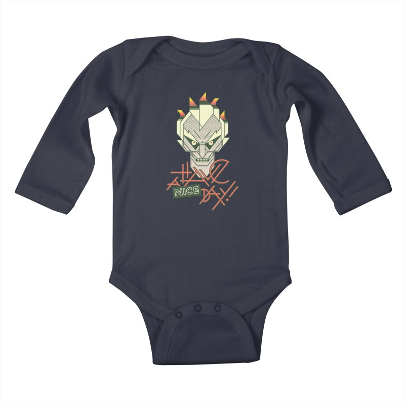 Have A Nice Day! Kids Baby Longsleeve Bodysuit by Spencer Fruhling's Artist Shop