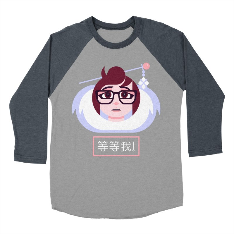 Wait For Me! Women's Baseball Triblend Longsleeve T-Shirt by Spencer Fruhling's Artist Shop