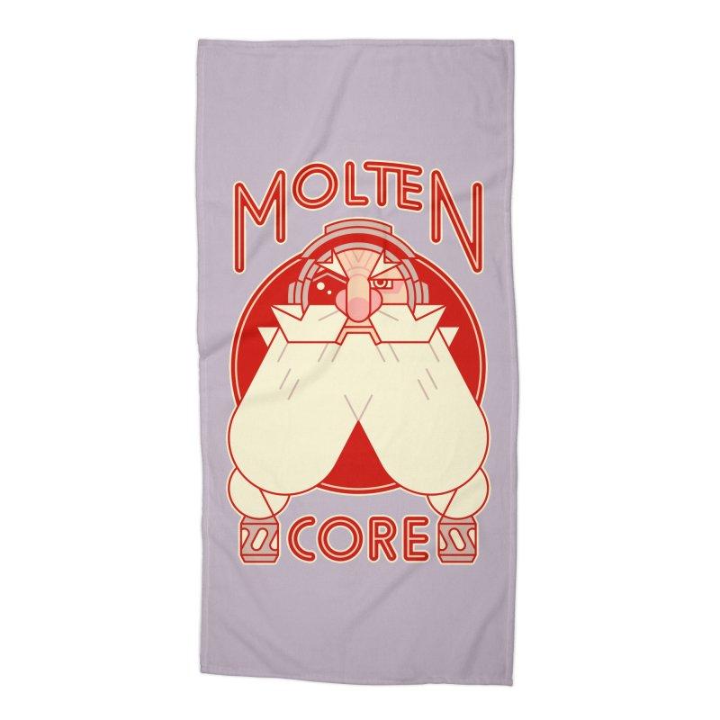 Molten Core Accessories Beach Towel by Spencer Fruhling's Artist Shop