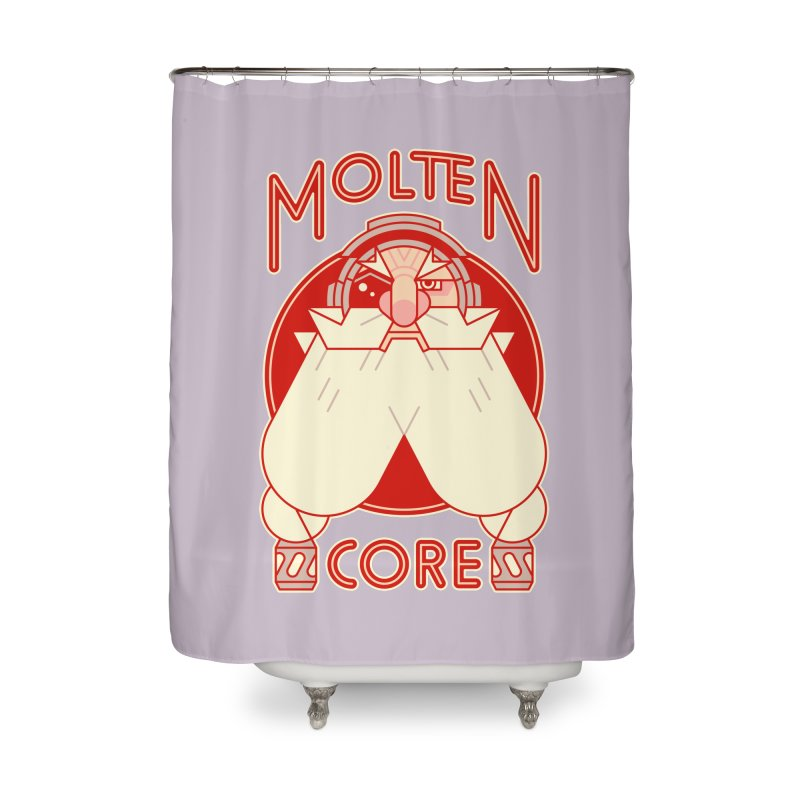 Molten Core Home Shower Curtain by Spencer Fruhling's Artist Shop