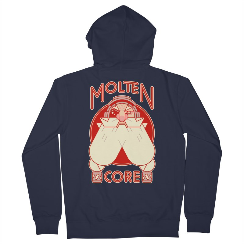 Molten Core Men's French Terry Zip-Up Hoody by Spencer Fruhling's Artist Shop