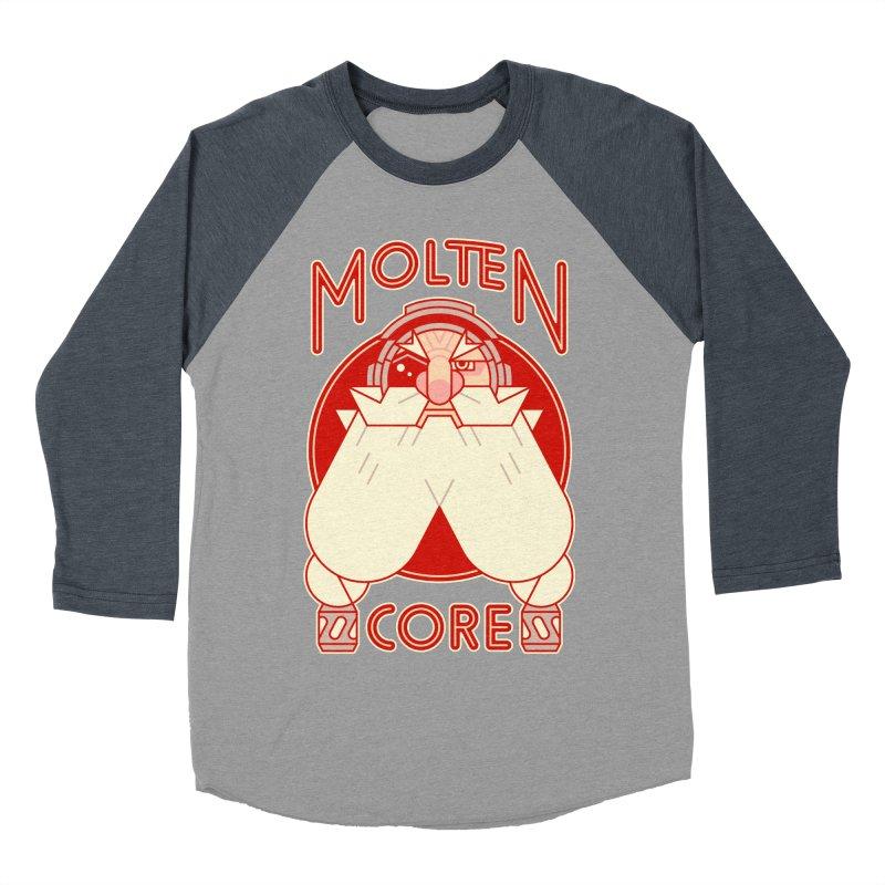 Molten Core Women's Baseball Triblend Longsleeve T-Shirt by Spencer Fruhling's Artist Shop