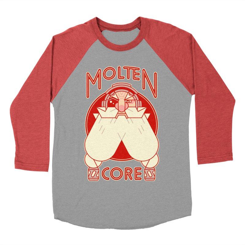 Molten Core Men's Baseball Triblend T-Shirt by Spencer Fruhling's Artist Shop