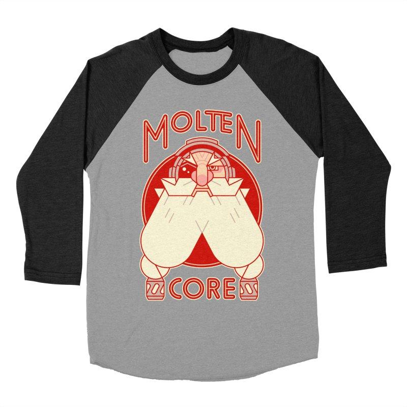 Molten Core Men's Baseball Triblend Longsleeve T-Shirt by Spencer Fruhling's Artist Shop