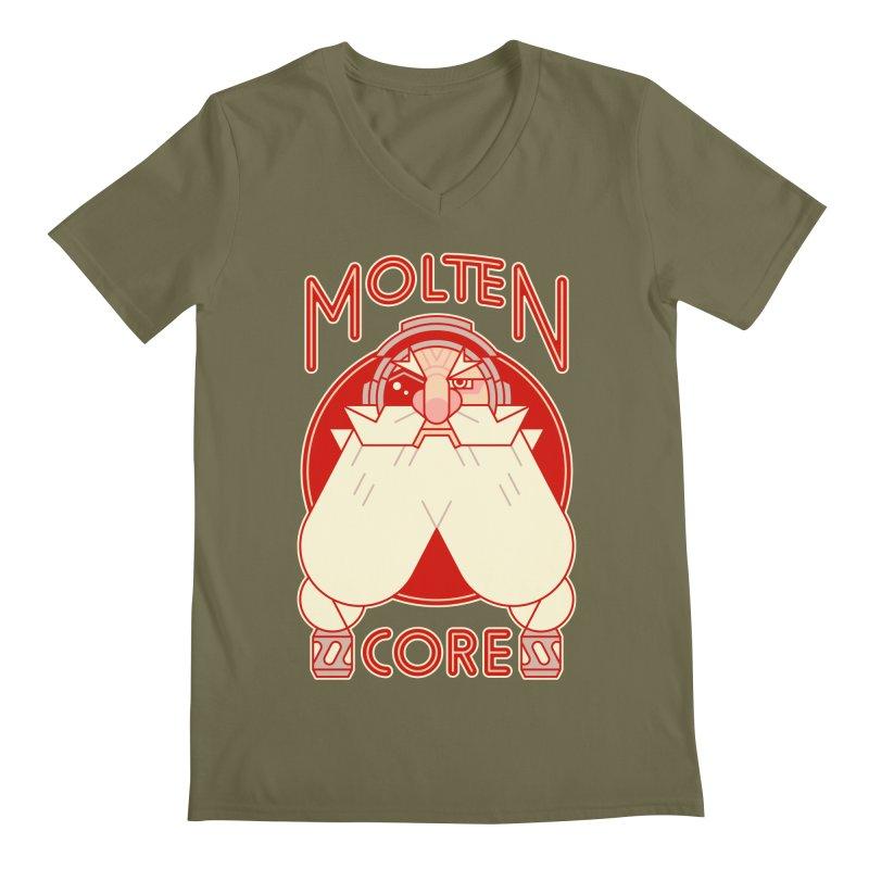 Molten Core Men's V-Neck by Spencer Fruhling's Artist Shop