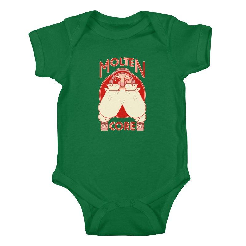 Molten Core Kids Baby Bodysuit by Spencer Fruhling's Artist Shop