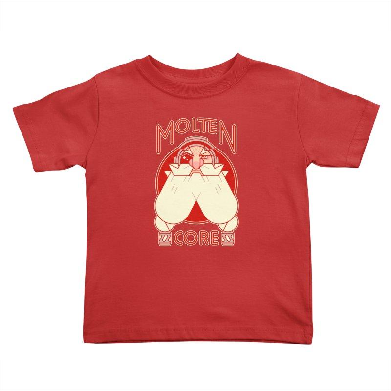 Molten Core Kids Toddler T-Shirt by Spencer Fruhling's Artist Shop