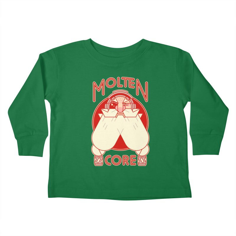 Molten Core Kids Toddler Longsleeve T-Shirt by Spencer Fruhling's Artist Shop