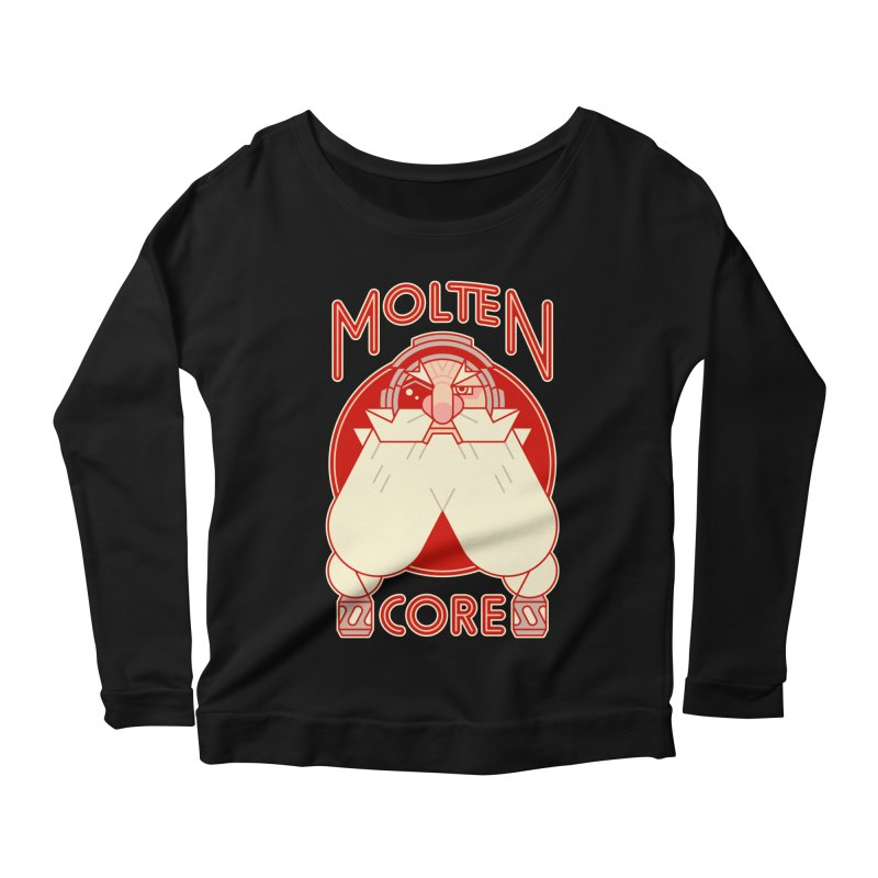 Molten Core Women's Longsleeve Scoopneck  by Spencer Fruhling's Artist Shop