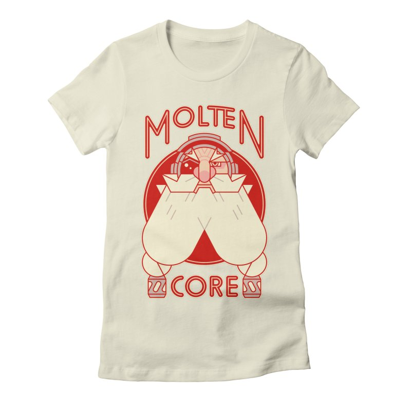 Molten Core Women's Fitted T-Shirt by Spencer Fruhling's Artist Shop