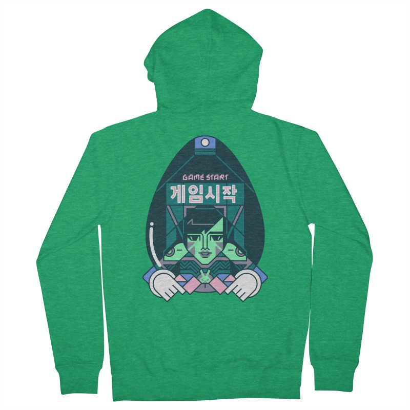 Game Start Men's French Terry Zip-Up Hoody by Spencer Fruhling's Artist Shop