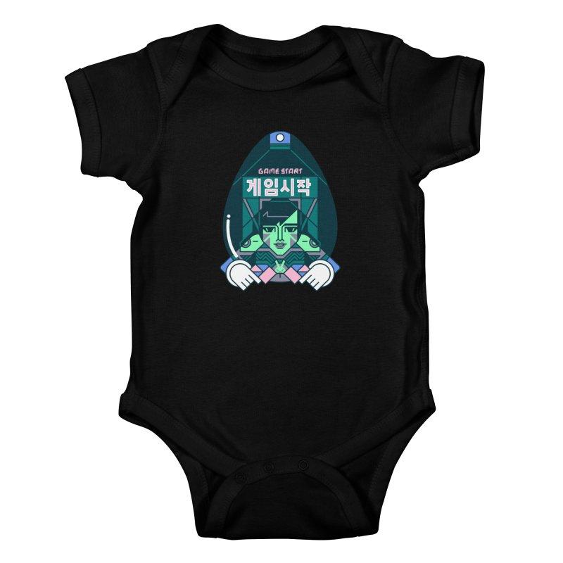 Game Start Kids Baby Bodysuit by Spencer Fruhling's Artist Shop