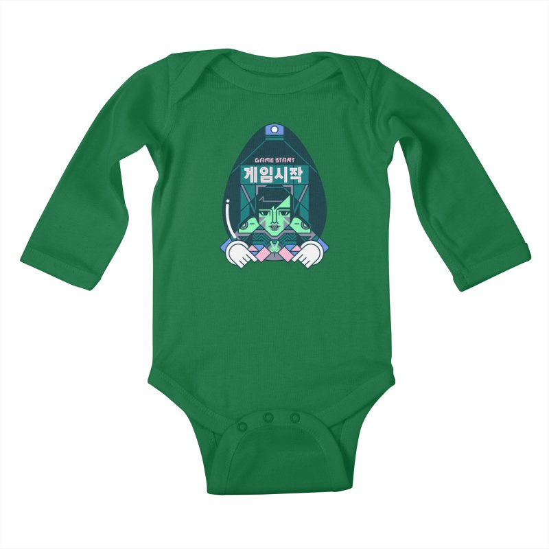 Game Start Kids Baby Longsleeve Bodysuit by Spencer Fruhling's Artist Shop