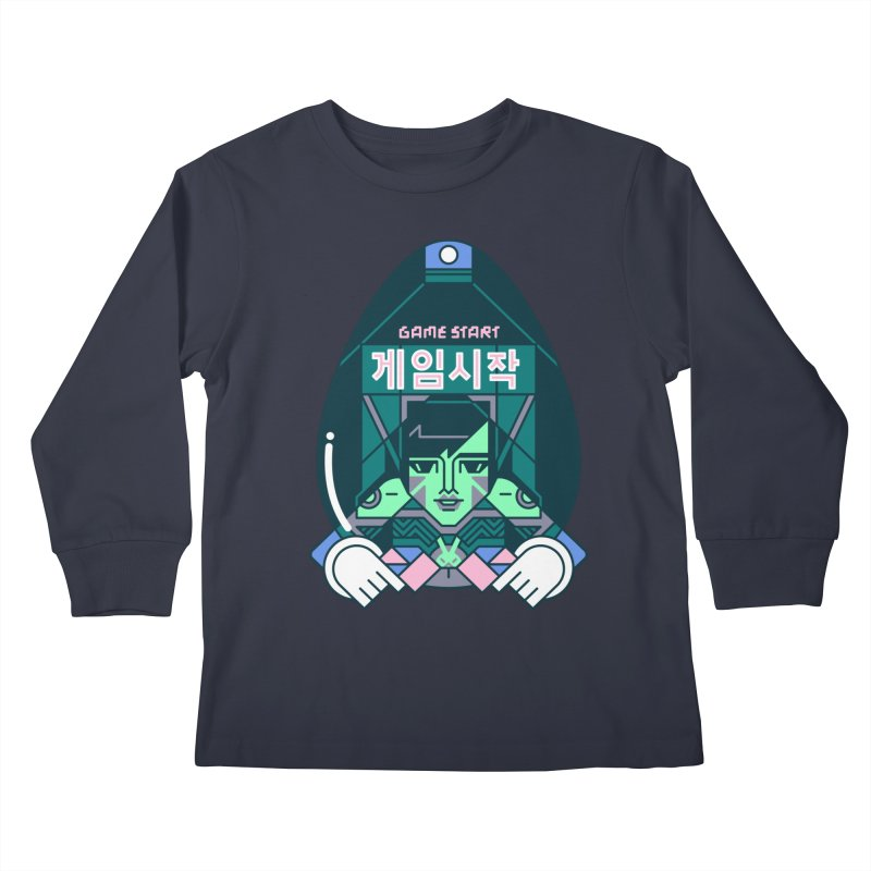 Game Start Kids Longsleeve T-Shirt by Spencer Fruhling's Artist Shop