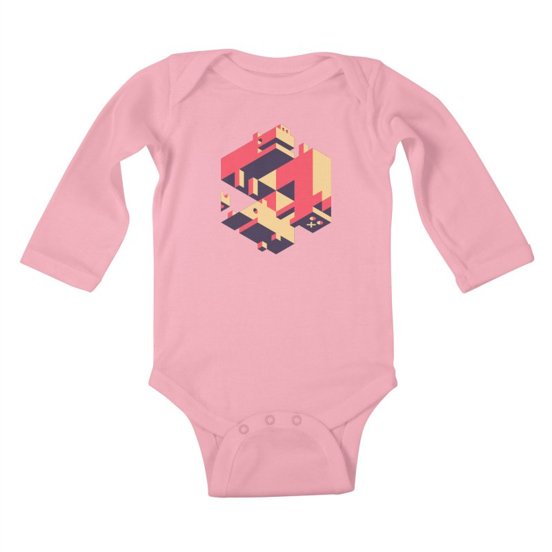 Iso-Pet-Trick Kids Baby Longsleeve Bodysuit by Spencer Fruhling's Artist Shop