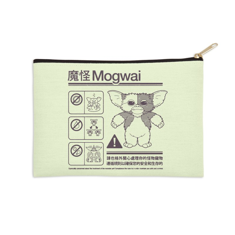 Mogwai Instructions Accessories Zip Pouch by Spencer Fruhling's Artist Shop