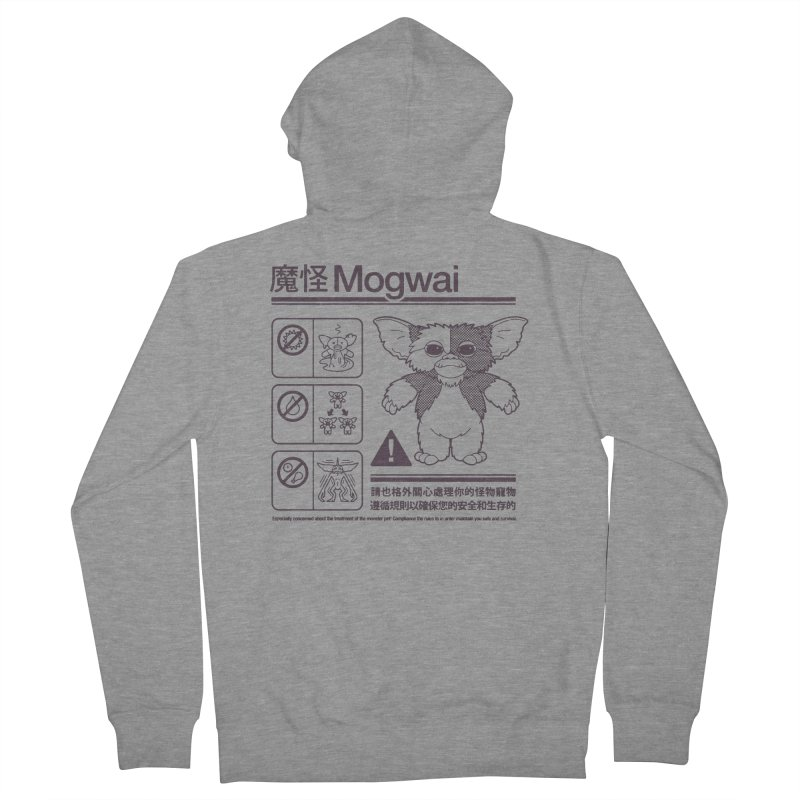 Mogwai Instructions Women's French Terry Zip-Up Hoody by Spencer Fruhling's Artist Shop
