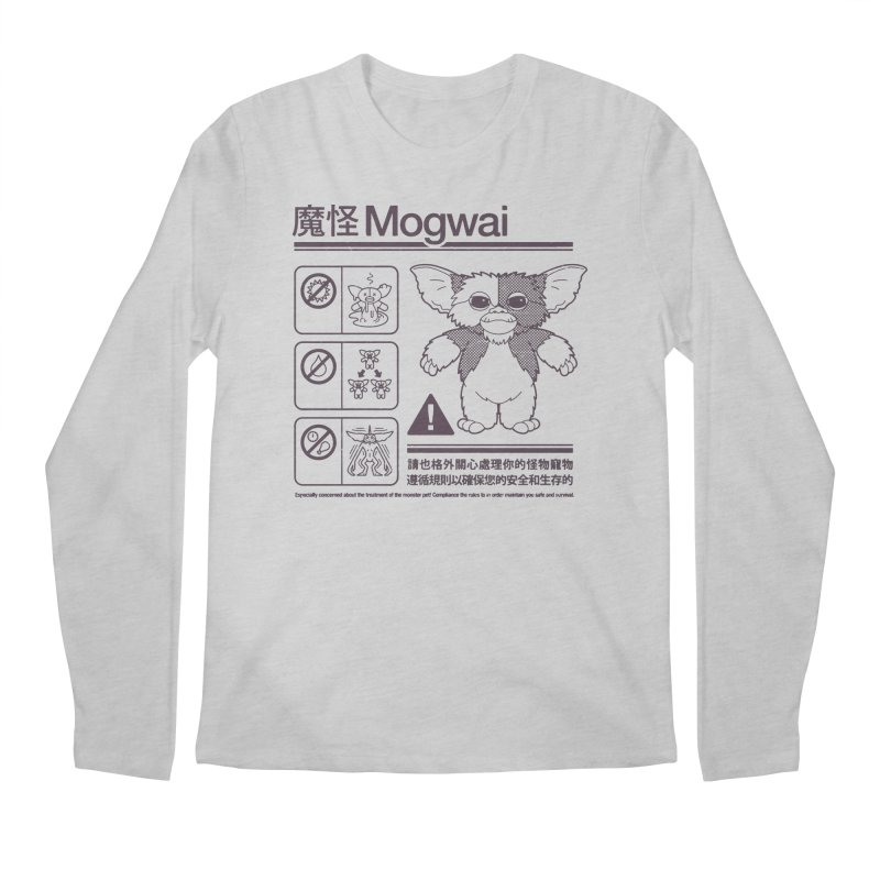 Mogwai Instructions Men's Longsleeve T-Shirt by Spencer Fruhling's Artist Shop