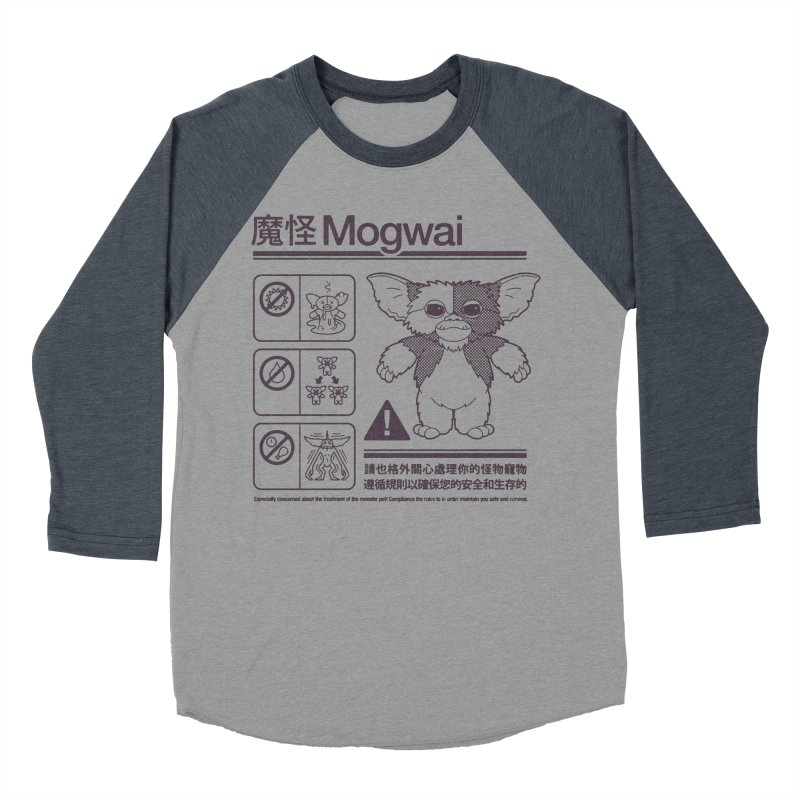Mogwai Instructions Women's Baseball Triblend Longsleeve T-Shirt by Spencer Fruhling's Artist Shop