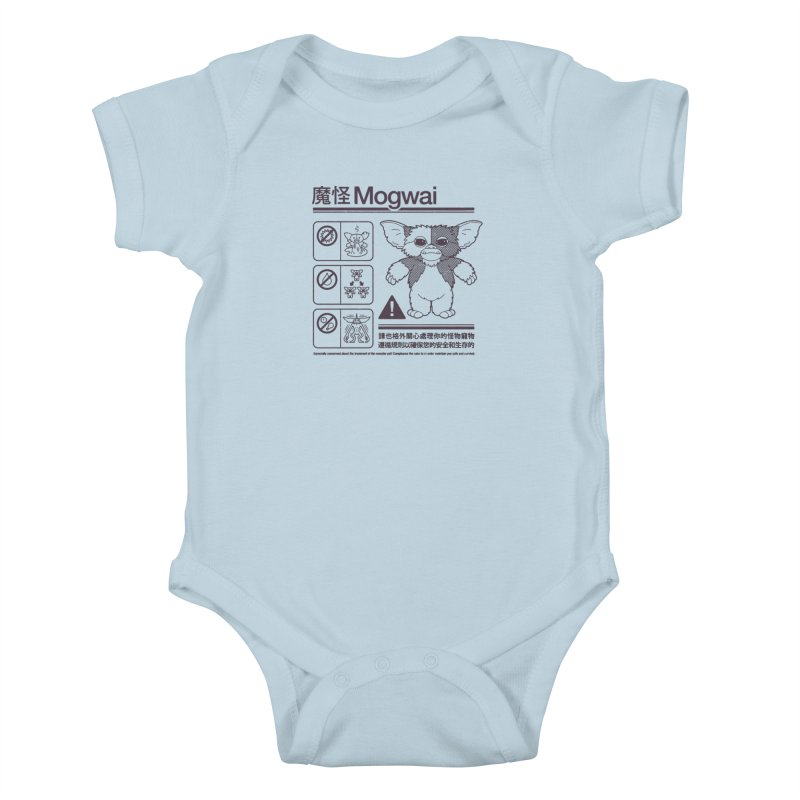 Mogwai Instructions Kids Baby Bodysuit by Spencer Fruhling's Artist Shop