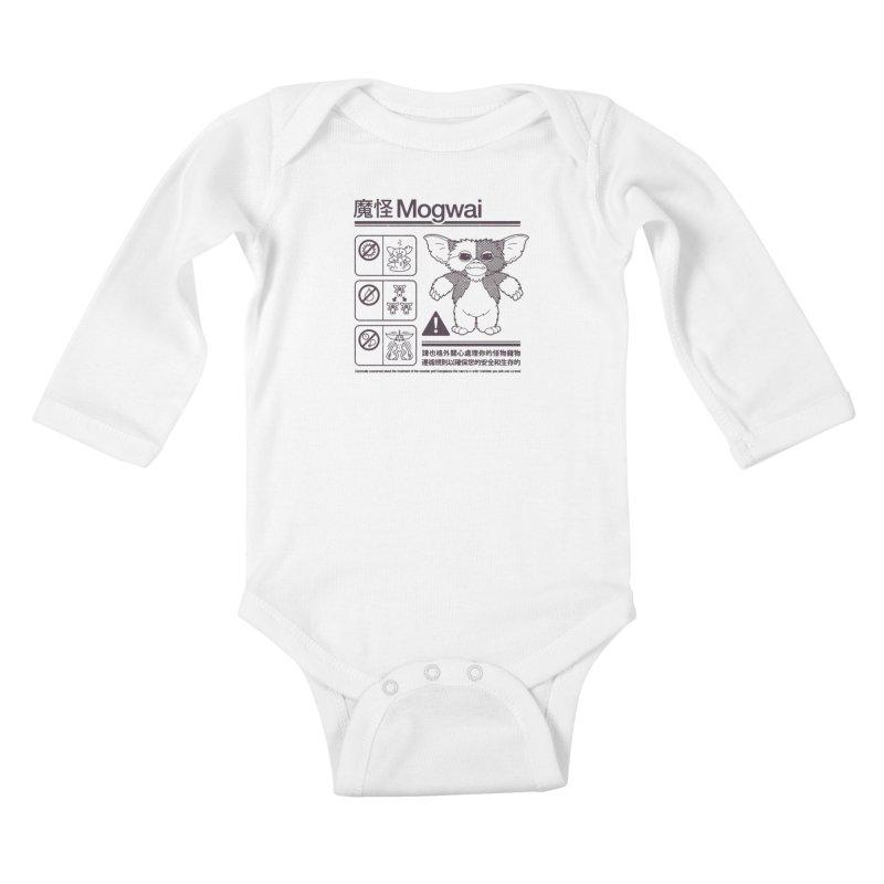 Mogwai Instructions Kids Baby Longsleeve Bodysuit by Spencer Fruhling's Artist Shop