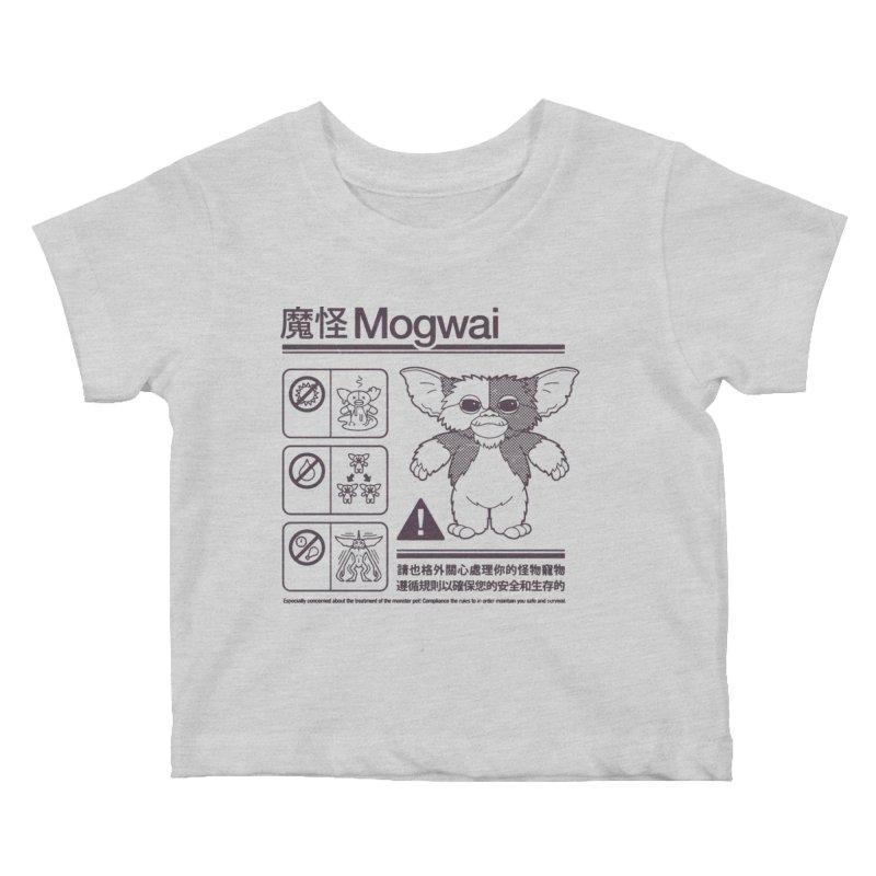 Mogwai Instructions Kids Baby T-Shirt by Spencer Fruhling's Artist Shop
