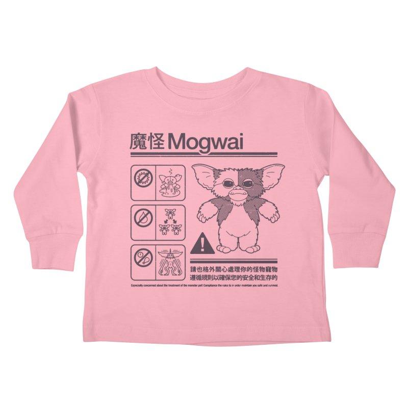 Mogwai Instructions Kids Toddler Longsleeve T-Shirt by Spencer Fruhling's Artist Shop