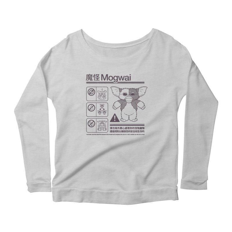 Mogwai Instructions Women's Scoop Neck Longsleeve T-Shirt by Spencer Fruhling's Artist Shop