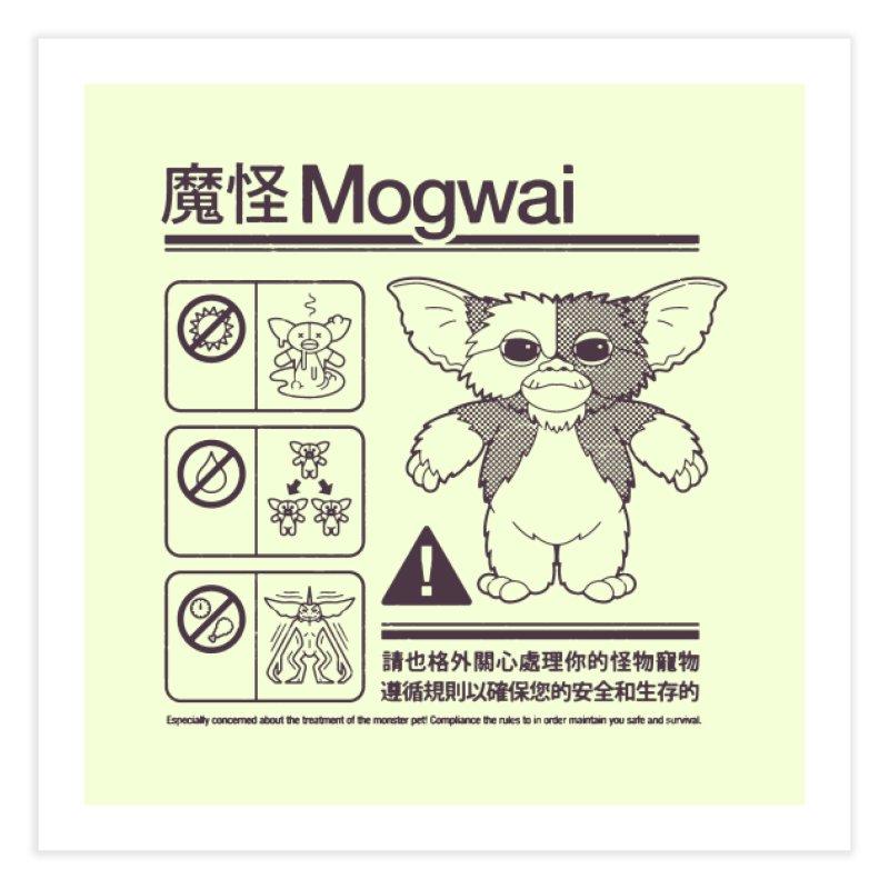Mogwai Instructions Home Fine Art Print by Spencer Fruhling's Artist Shop