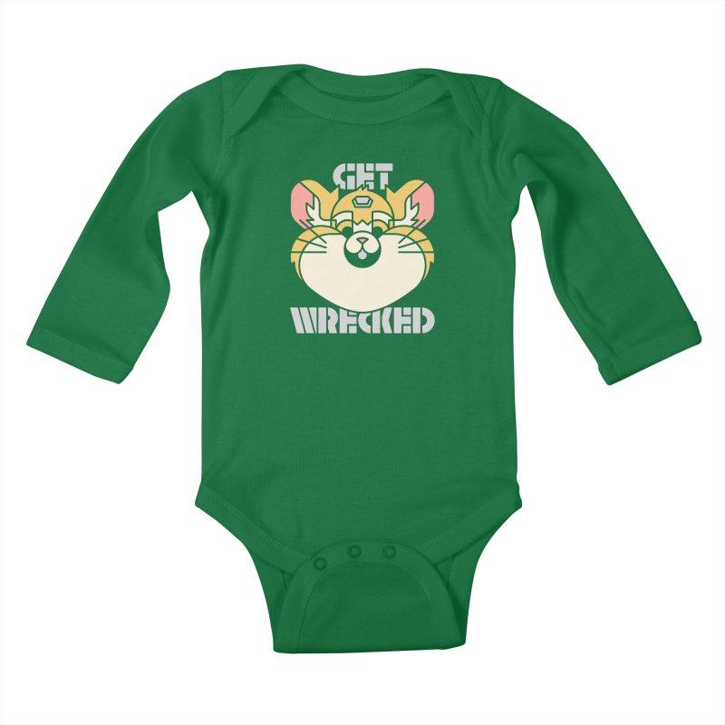 Get Wrecked Kids Baby Longsleeve Bodysuit by Spencer Fruhling's Artist Shop