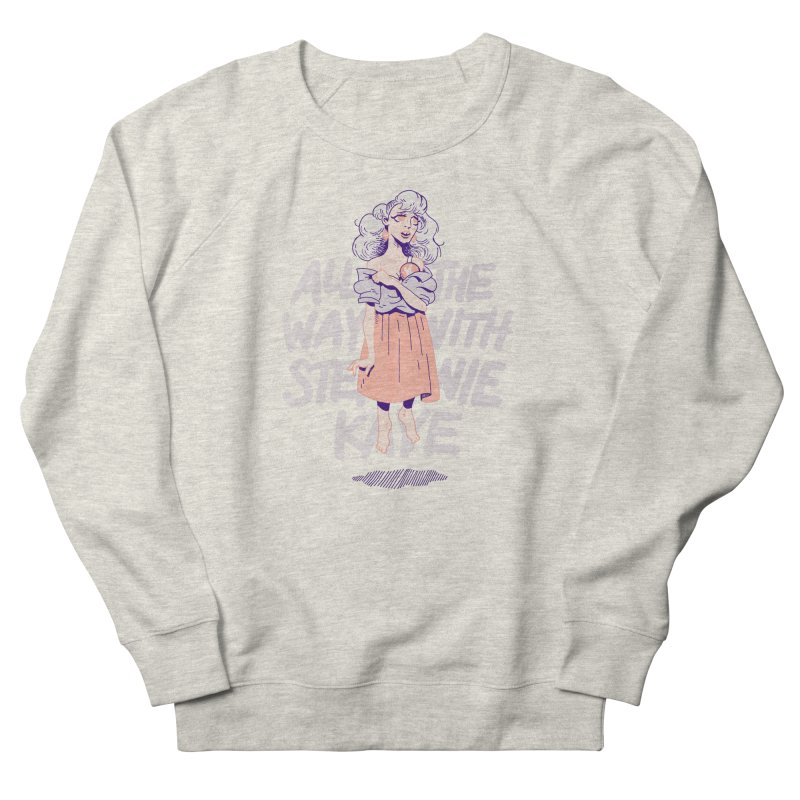 Kiss Me, Steph Men's French Terry Sweatshirt by Spencer Fruhling's Artist Shop