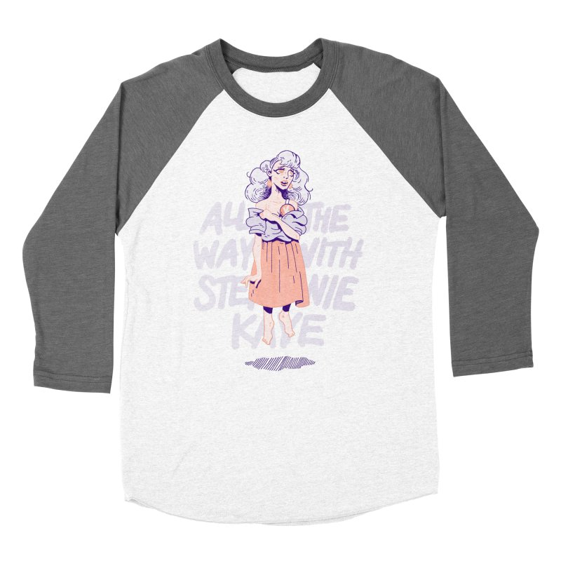 Kiss Me, Steph Women's Baseball Triblend Longsleeve T-Shirt by Spencer Fruhling's Artist Shop