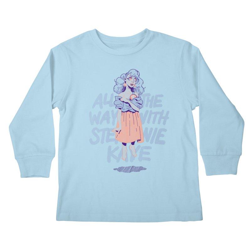 Kiss Me, Steph Kids Longsleeve T-Shirt by Spencer Fruhling's Artist Shop