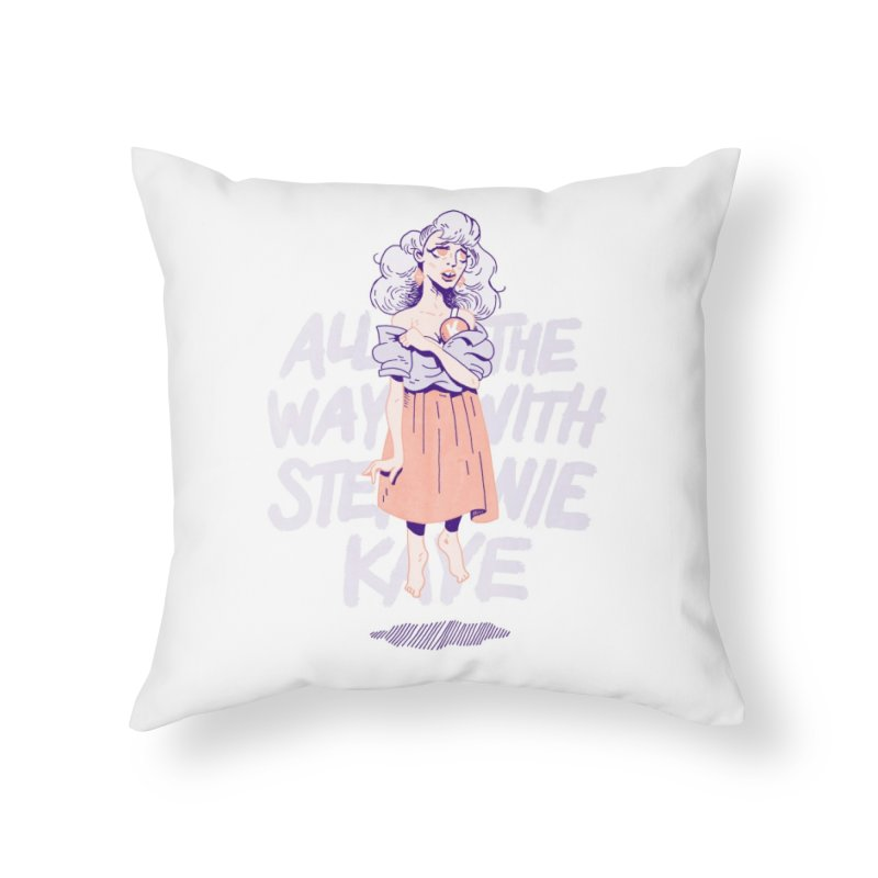 Kiss Me, Steph Home Throw Pillow by Spencer Fruhling's Artist Shop
