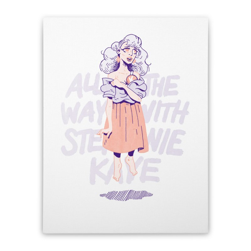 Kiss Me, Steph Home Stretched Canvas by Spencer Fruhling's Artist Shop