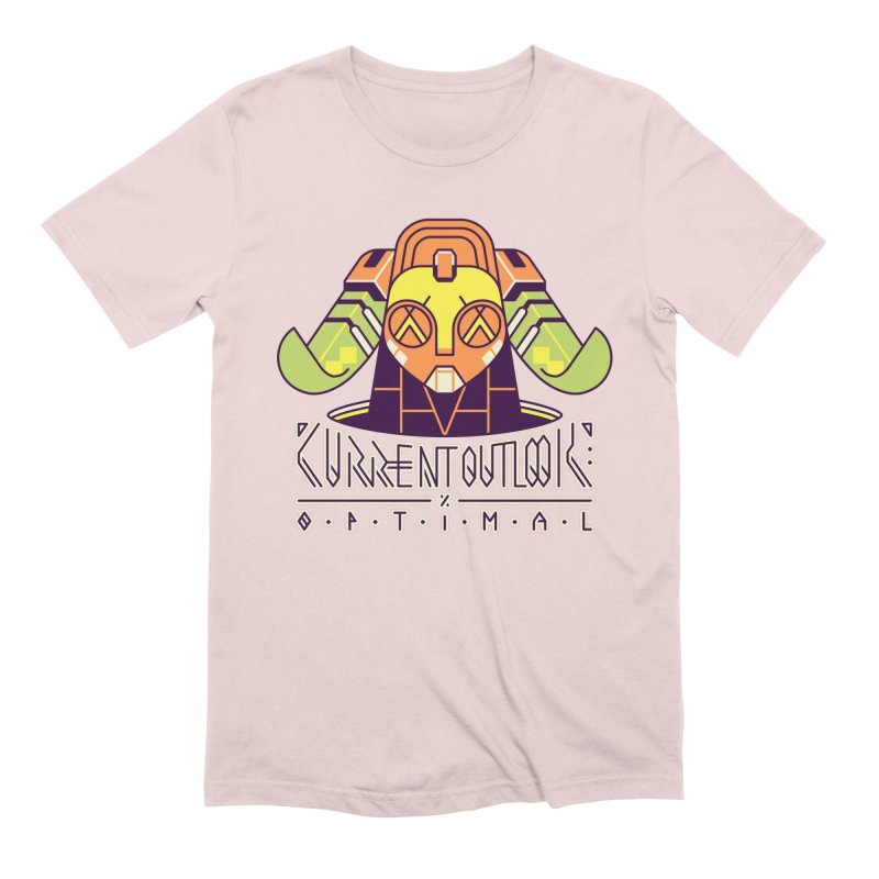 Current Outlook: Optimal Men's Extra Soft T-Shirt by Spencer Fruhling's Artist Shop