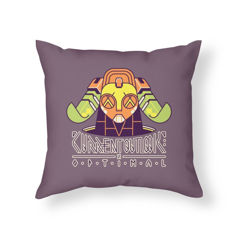 Current Outlook: Optimal Home Throw Pillow by Spencer Fruhling's Artist Shop