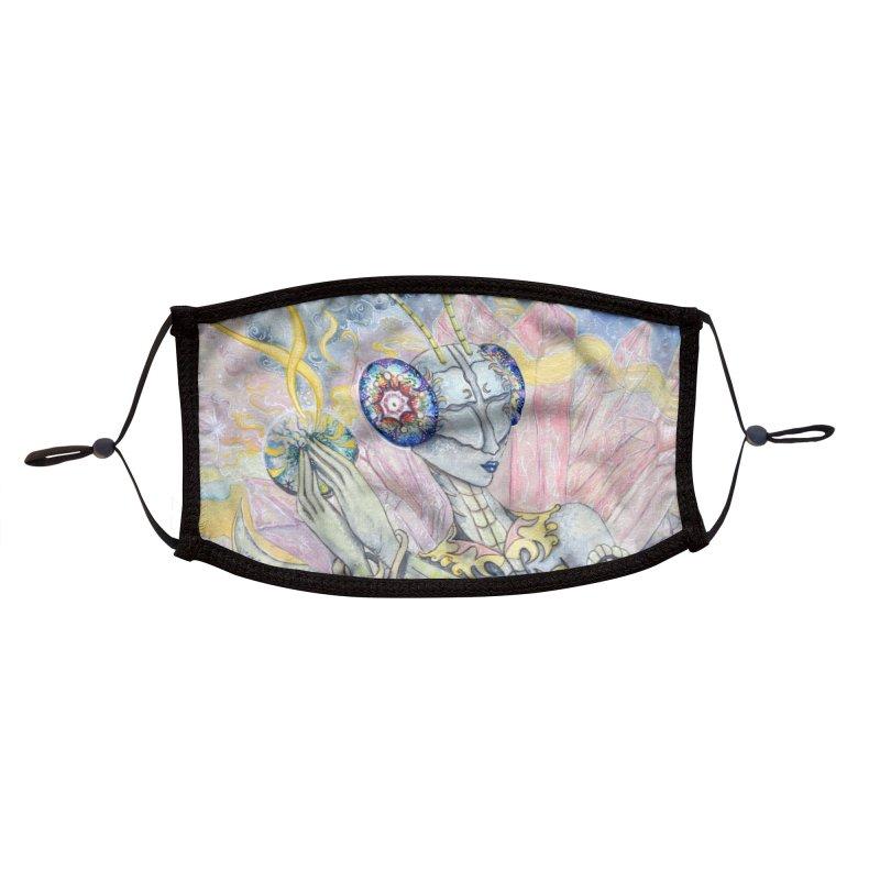 Crystal Mantis Accessories Face Mask by Kat Shevchenko's Artist Shop