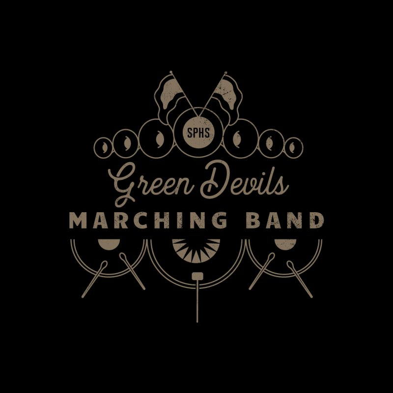 Green Devils Marching Band Women's Zip-Up Hoody by sphsband's Artist Shop
