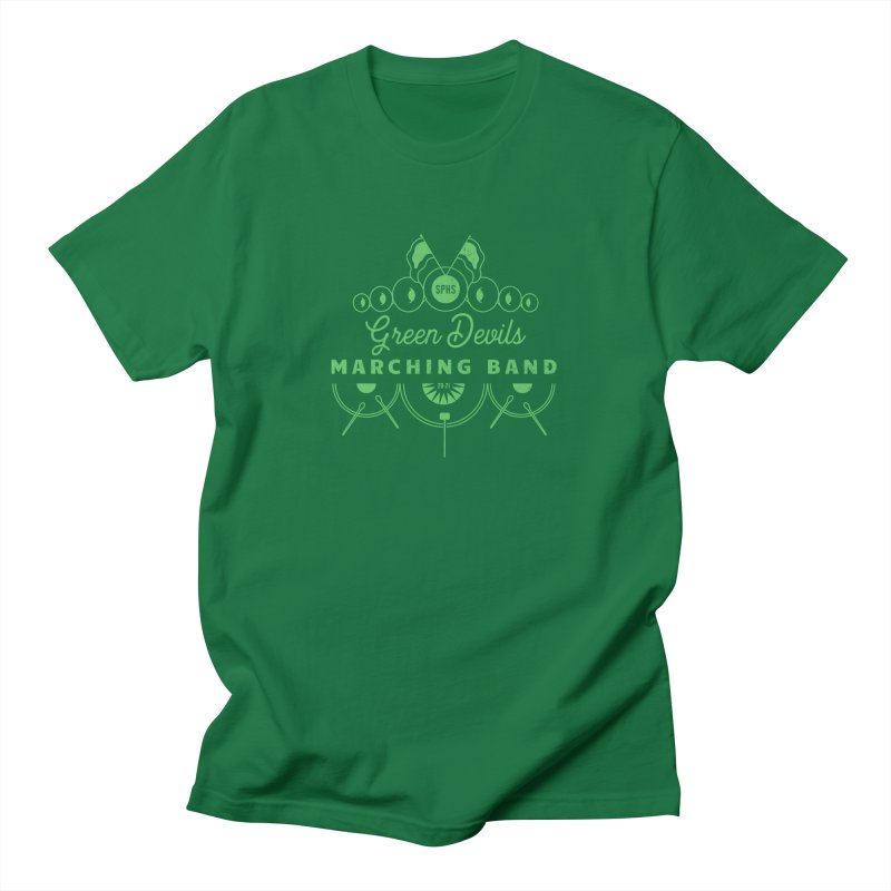 Green Devils Marching Band Men's T-Shirt by sphsband's Artist Shop
