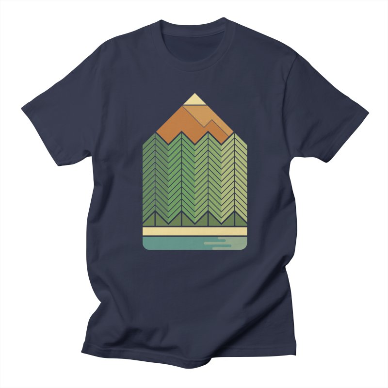 Draw landscape Men's Regular T-Shirt by spike00