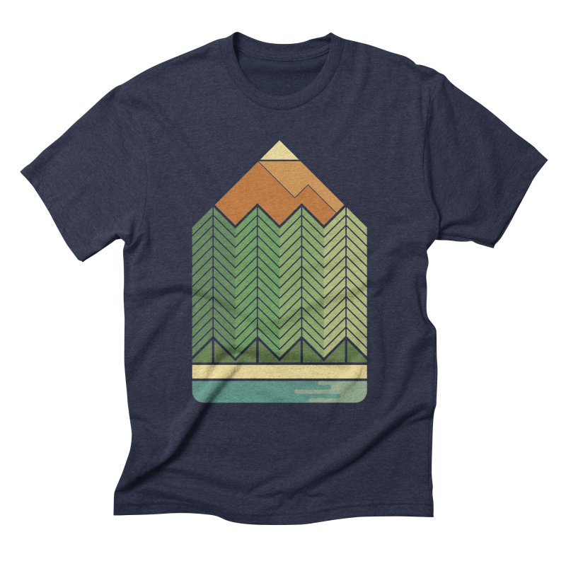 Draw landscape Men's Triblend T-shirt by spike00