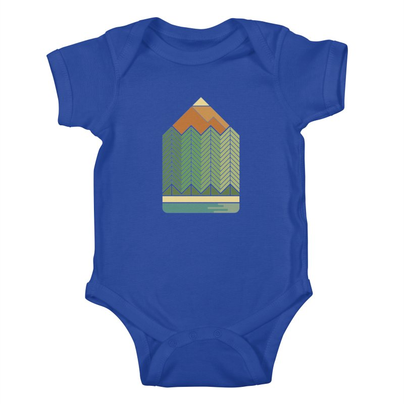 Draw landscape Kids Baby Bodysuit by spike00
