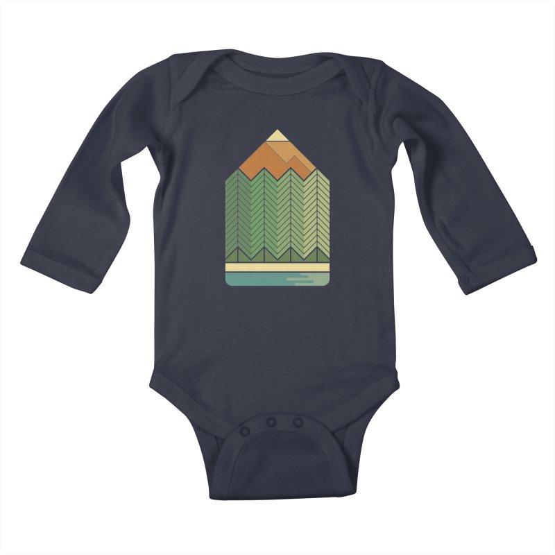Draw landscape Kids Baby Longsleeve Bodysuit by spike00