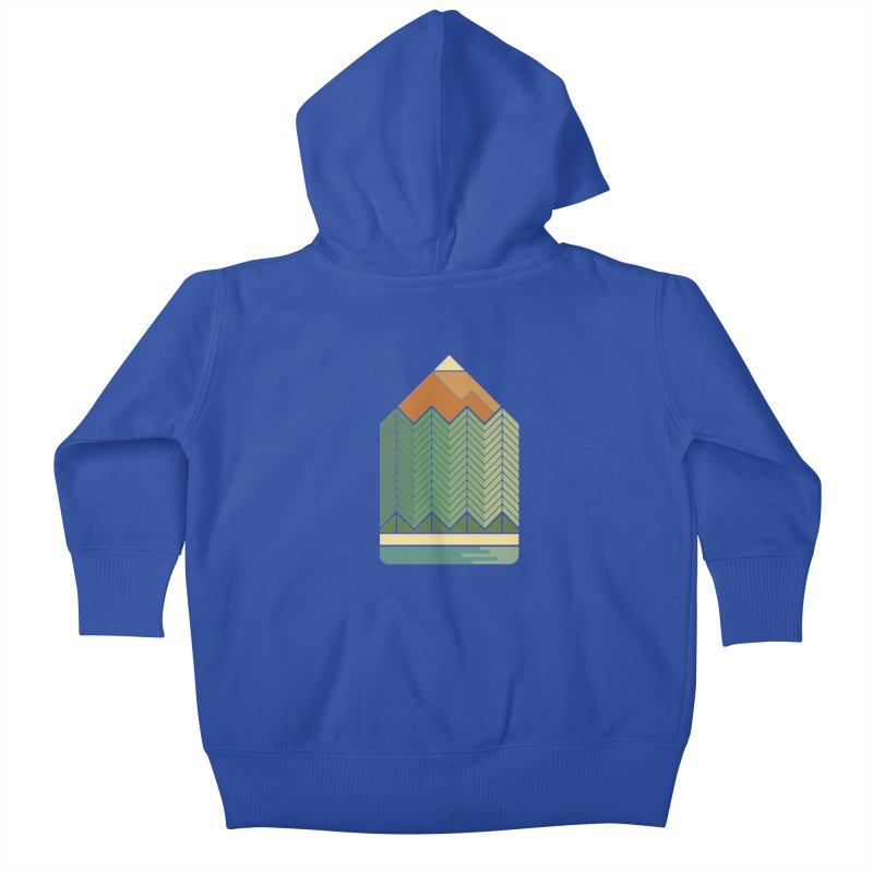 Draw landscape Kids Baby Zip-Up Hoody by spike00