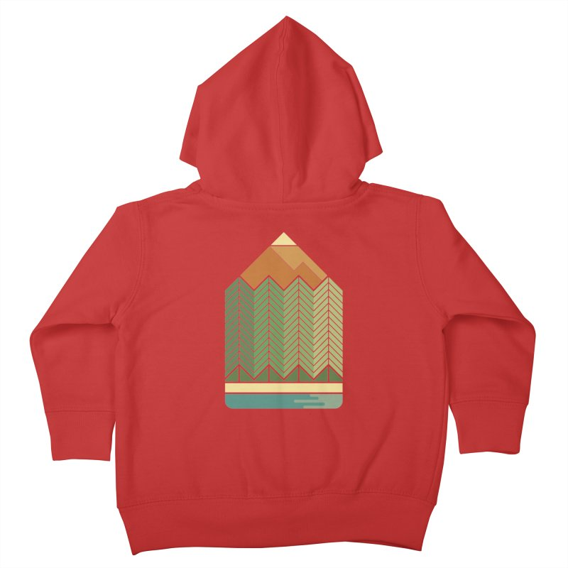 Draw landscape Kids Toddler Zip-Up Hoody by spike00